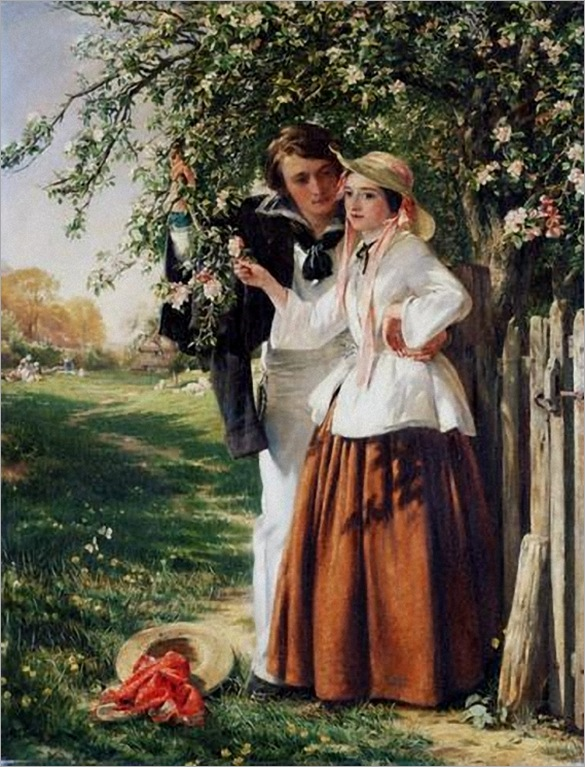 09. Horsley, John Callcott - Lovers Under A Blossom Tree