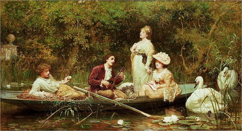b12 Samuel Luke Fildes (British painter 1844-1927).  Fair Quiet and Sweet Rest