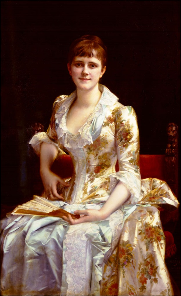 Cabanel_Alexander_Portrait_Of_Young_Lady