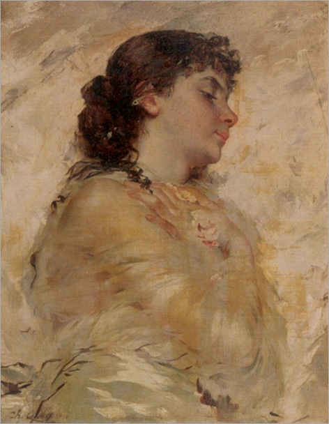 Chaplin_Charles_Portrait_of_a_Young_Woman_in_Profile