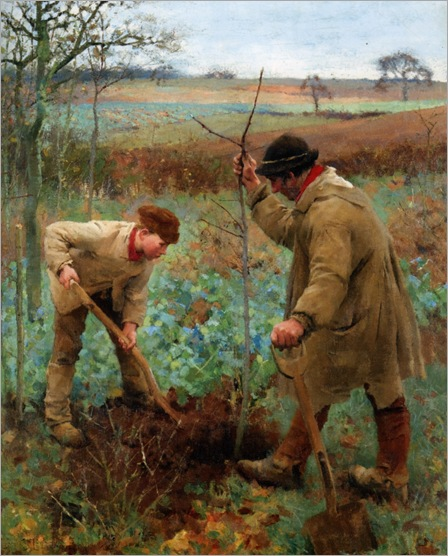 Clausen_George_Planting_a_Tree_1888