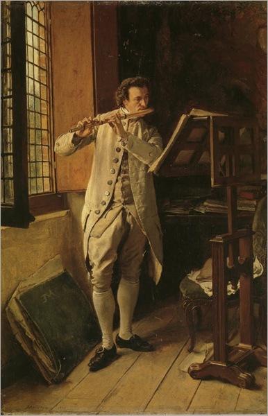 Flute Player-ernest-meissonier