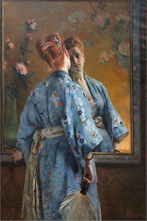 398px-Alfred_Stevens_-_La_Parisienne_japonaise