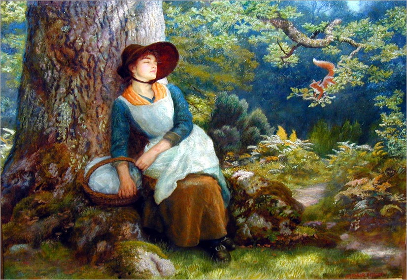 asleep_in_the_woods-ArthurHughes