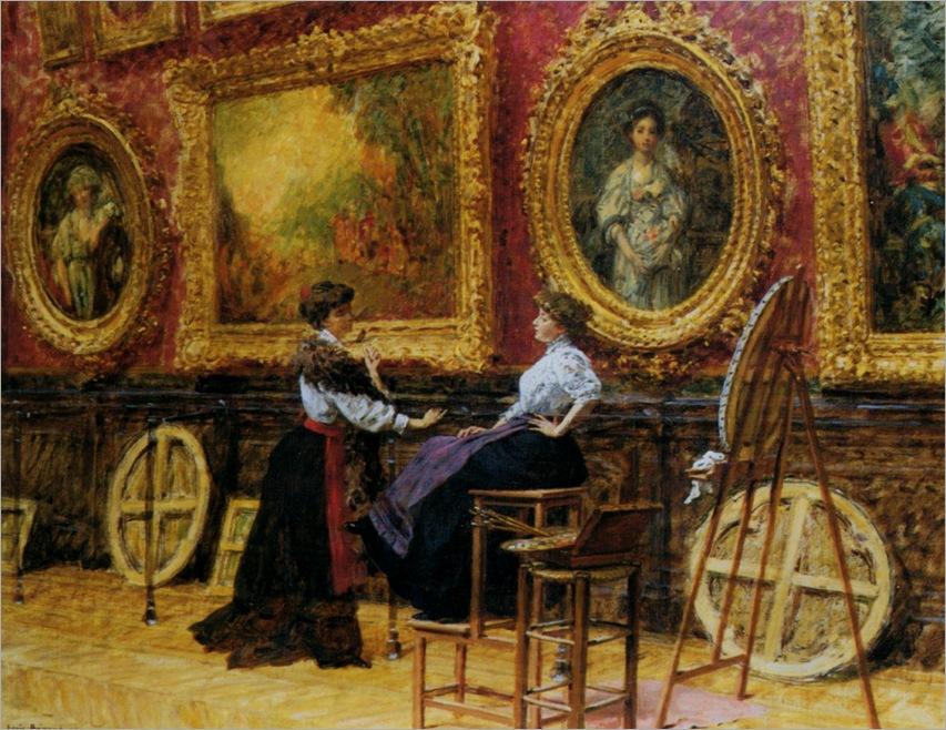 Beroud_Louis_Les_Copistes_Musee_Du_Louvre_1909