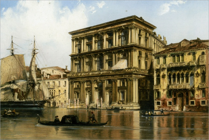 Bossoli_Carlo_On_the_Grand_Canal_Venice
