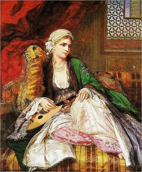 Charles Wynne Nicholls (Irish artist, 1831-1903) Eastern Beauty 1862