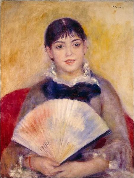 Girl-with-a-Fan 1800s Renoir