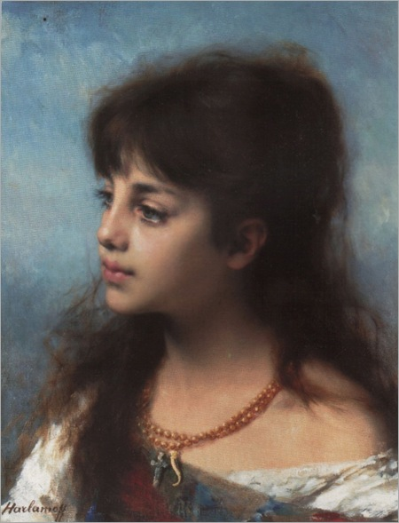 HARLAMOFF (PORTRAIT OF A YOUNG GIRL)