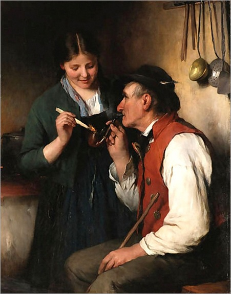 Joseph_Miller__Lighting_grandfathers_pipe