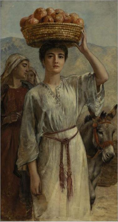 Long-Edwin-Longsden-Woman-Carrying-a-Basket-Full-of-Pomegranates
