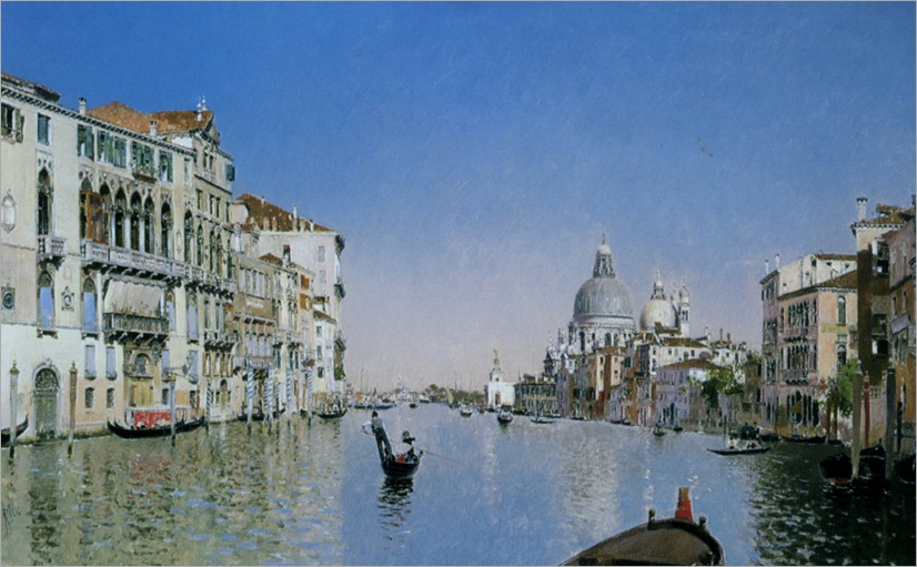 Rico_y_Ortega_Martin_A_Gondola_On_The_Grand_Canal_Venice