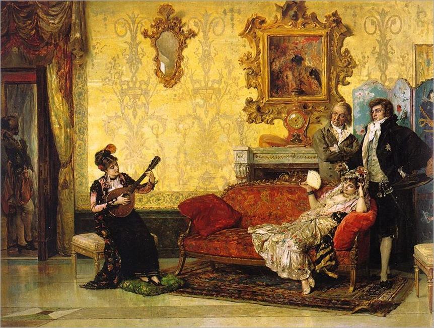 Vicente_Palmaroli_-_The_Concert,_1880