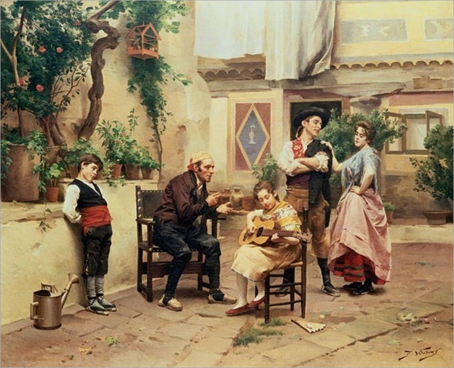 Worms, Jules (1832-1914) - The music lesson