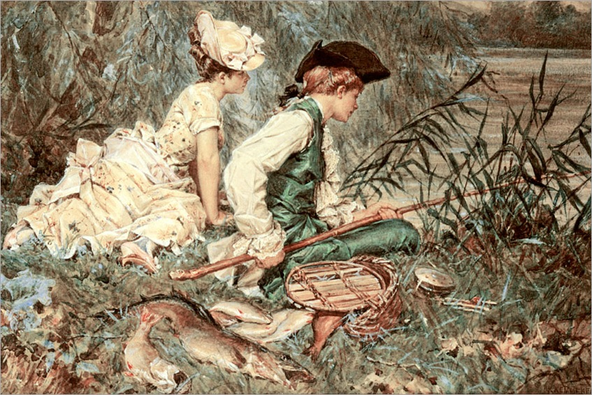 19frederick-hendrik-kaemmerer-dutch-1839-1902-an-afternoon-of-fishing