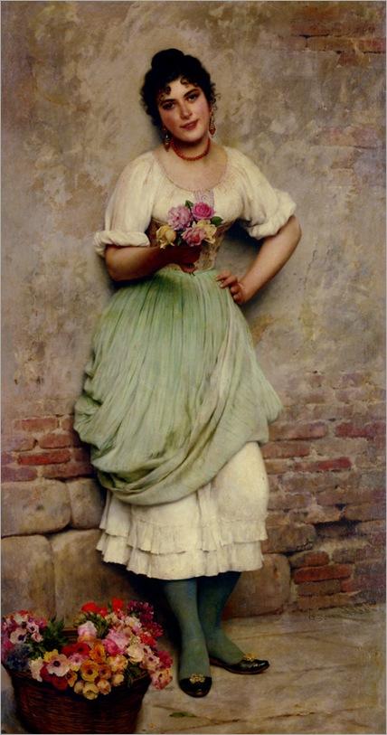 Blaas_Eugene_De_The_Flower_Seller
