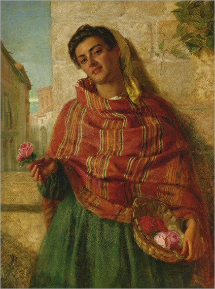 Burgess_John_Bagnold_A_Young_Beauty_Holding_a_Rose