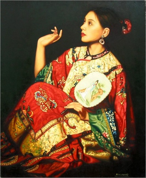 DiLifeng_LADY IN RED KIMONO
