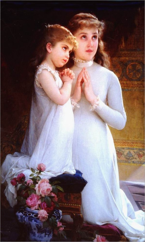 emile-munier_2_girls_praying