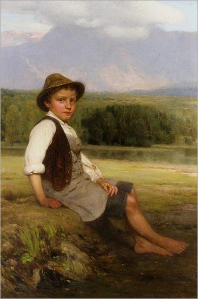 Engel_Johan_Friederich_A_Young_Boy_in_a_Summer_Landscape