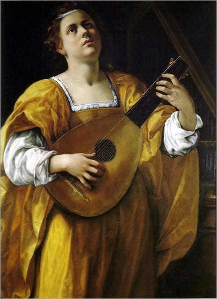 Gentileschi, Artemisia (1593-1653) - Saint Cecelia, 1620, Spada Gallery, Rome