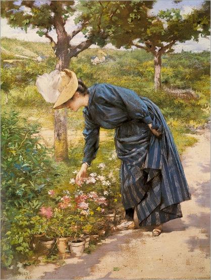 Gilbert_Victor_Gabriel_Lady_In_A_Garden