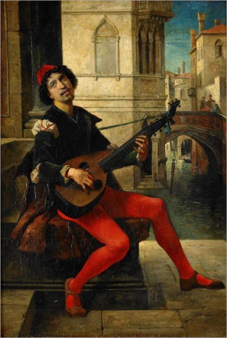 Herkomer, Sir Hubert Von (1849-1914) - A Serenade, 1877