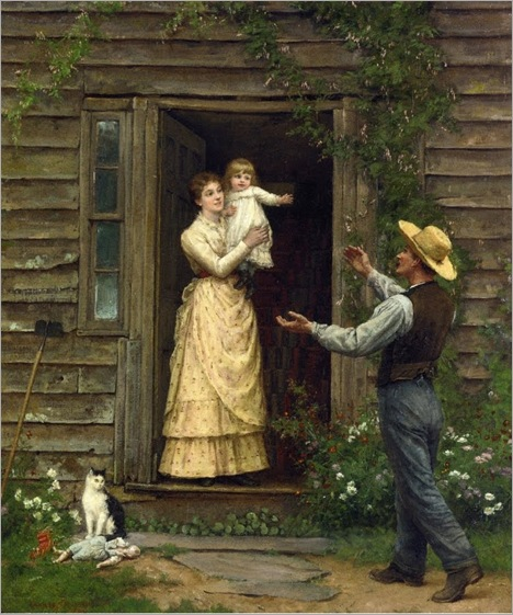Jennie Augusta Brownscombe (1850-1935)  The Homecoming 1885