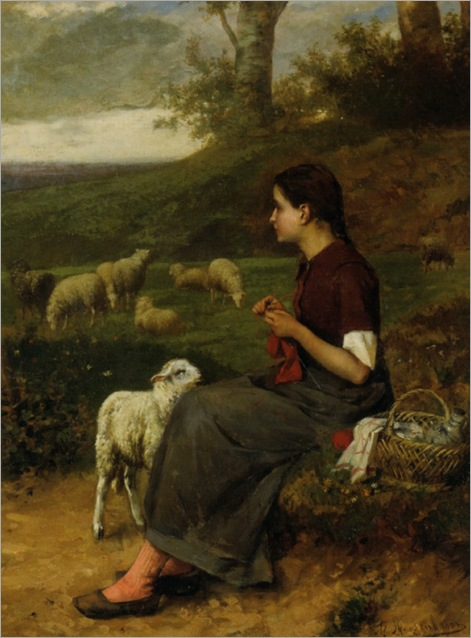 Roosenboom_Albert_The_Young_Shepherdess_1884