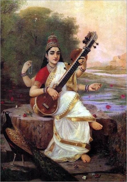 Saraswati por raja-ravi-varma