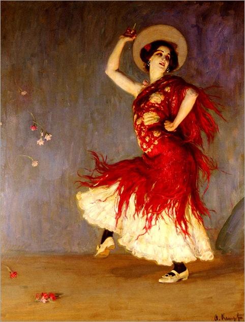a_flamenco_dancer-ArthurKampf-1864-1950