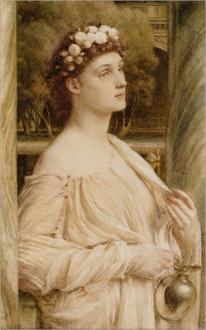 Bart_Edward_John_Poynter_A_Vestal_Portrait_of_Miss_Violet_Lindsay_1880