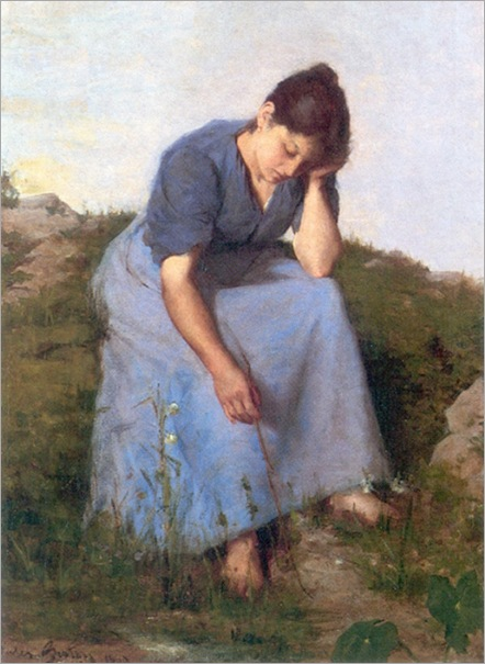 Breton_Jules_Young_Woman_in_a_Field