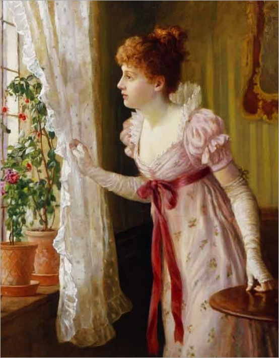 Charles Haigh-Wood (British artist, 1856-1927) Waiting