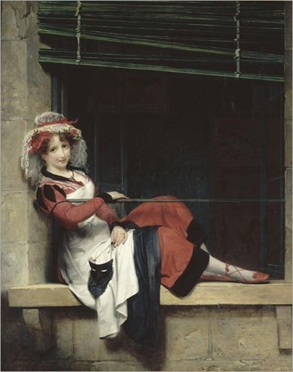 Detouche Paul Emile (1794-1874,l'attente du bal masqué,mba nantes