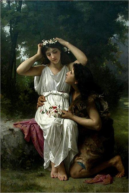 Elizabeth Jane Gardner Bouguereau - Daphnis and Chloe