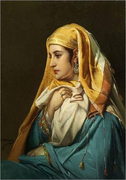 Femme Orientale Jean Francois Portaels Belgian 1818-1895