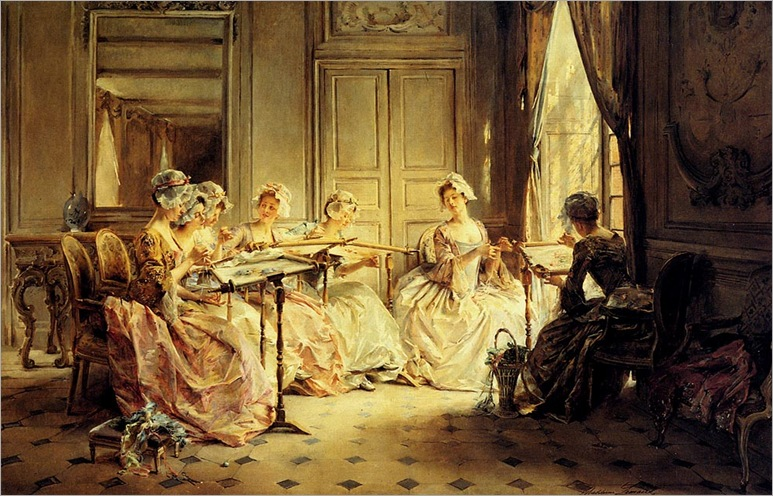 lemaire_madeleine_jeanne_an_afternoon_embroidering