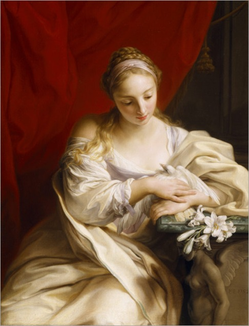 PURITY OF HEART by Pompeo Batoni (1708-1787) at Uppark, West Sussex