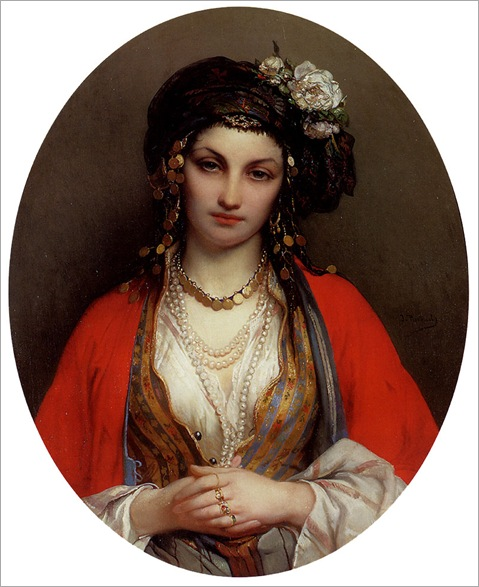 Portaels_Jean_Francois_An_Oriental_Beauty