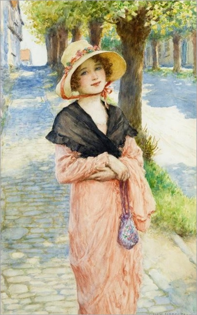 THE MORNING WALK william-henry-margetson