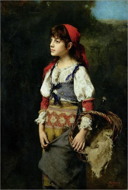 a-pretty-peasant-girl-Harlamoff