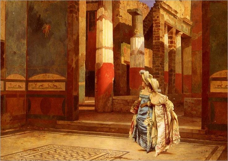 a_visit_to_pompeii-Luigi-Bazzani