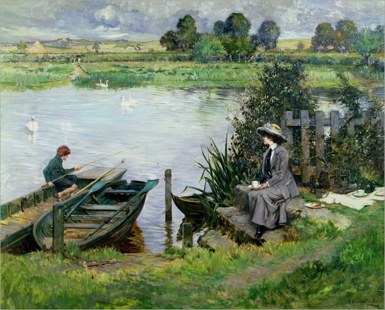 albert-chevallier-tayler--the-thames-at-benson