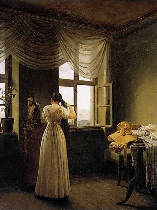 at_the_mirror-georg-friedrich-kersting(1785-1847)