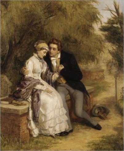 Frith, William Powell - The Lovers Seat, Shelley And Mary Godwin