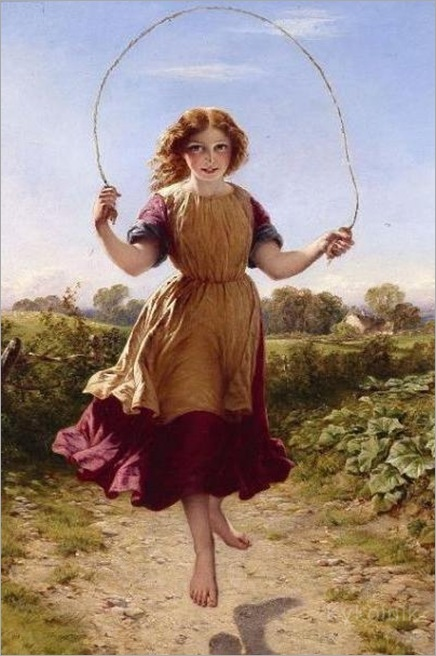 _John_Adam_Houston_Girl_Skipping_1863