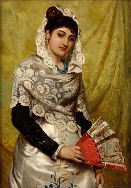 John_Haynes_Spanish_Woman_with_a_fan_1878