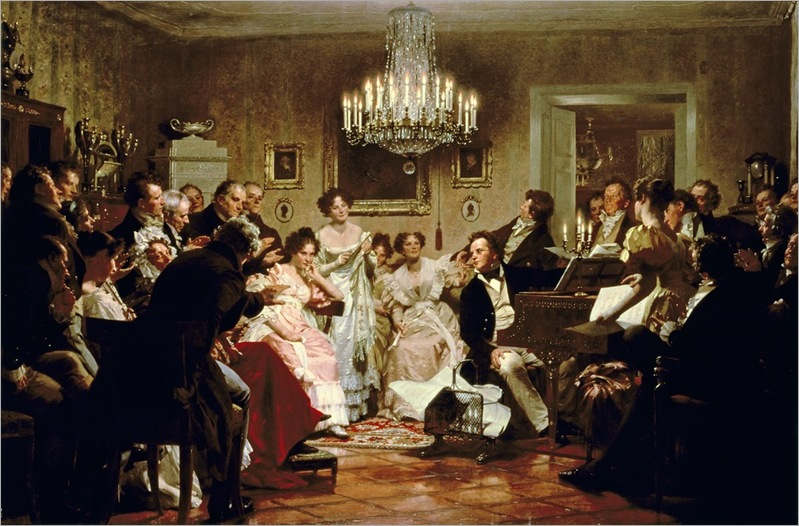 JULIUS-SCHMID-a-schubert-evening-in-a-vienna-salon