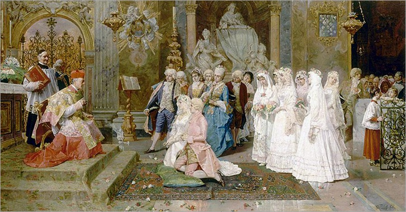 The Wedding, 1885